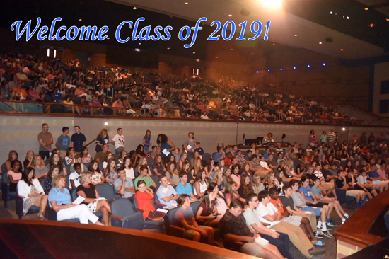 Welcome Class of 2019!