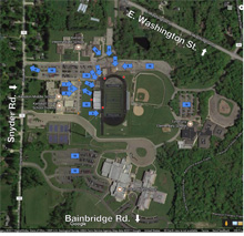 Map of Kenston Grounds
