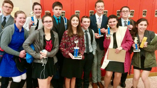 6th out of 20 schools at Edison's Speech and Debate Tournament