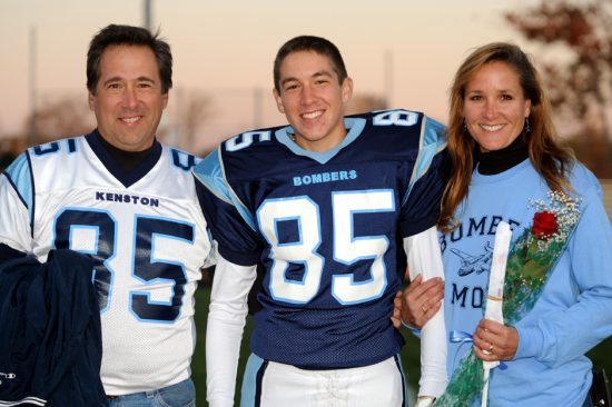 Peter Palumbo with Marty and Laura Palumbo (parents)