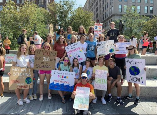 Kenston Students at Protest in Cleveland