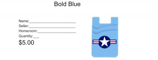 Bold Blue Phone Wallet Order Form