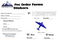 Sicker Order Form