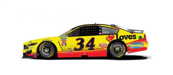 Michael McDowell's #34 Love's Travel Stops Ford.