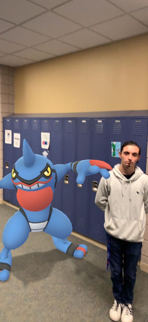 Nicky G getting crazy with Toxicroak at school!
