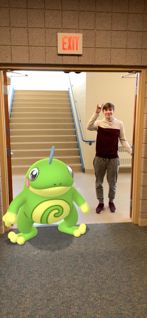 Shane aka frog man and Politoed looking for an exit.