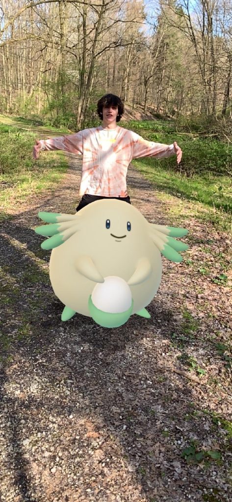 Colin and chansey enjoying a nice stroll in the woods