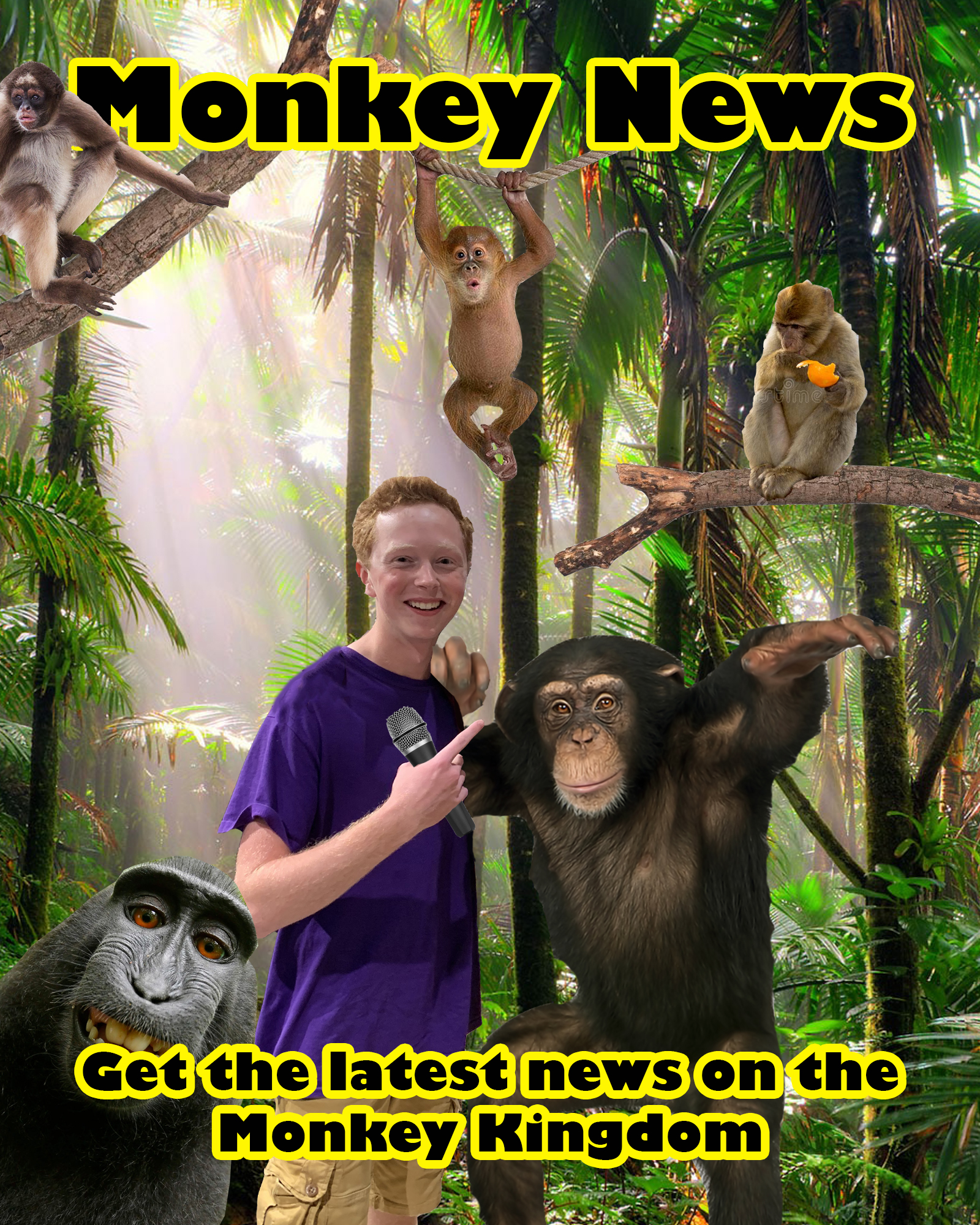 Nick Beebes magazine cover of his love for monkeys