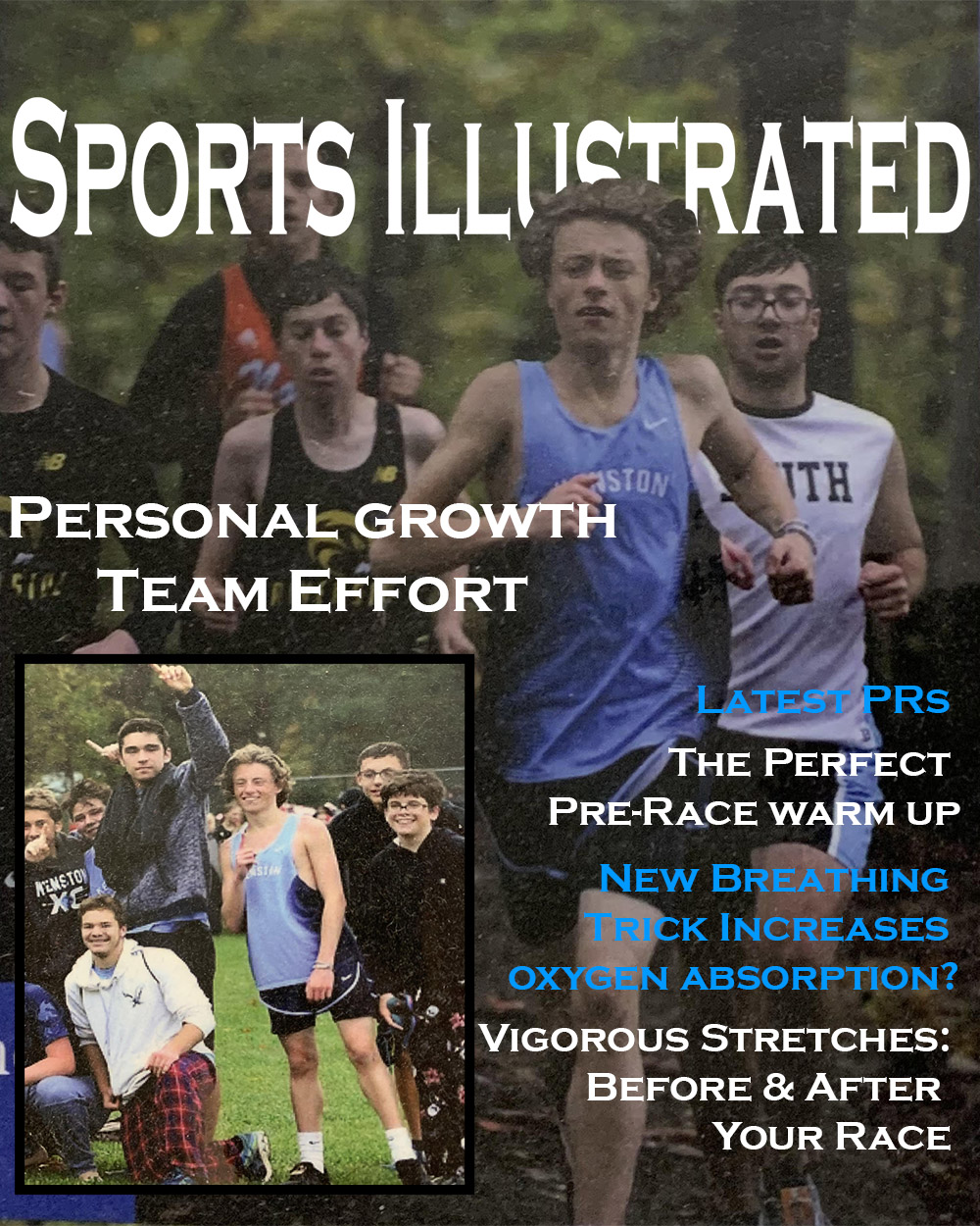 Sports Illustrated cover of Cross Country meet 2019