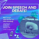 Join the Speech and Debate Team!
